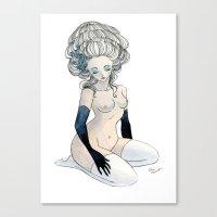 marie antoinette Canvas Prints featuring Antoinette by Renee Nault
