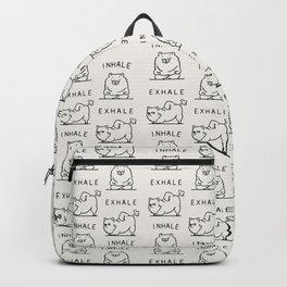 Inhale Exhale Pomeranian Backpack