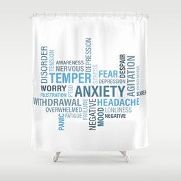 Anxiety 4 Shower Curtain