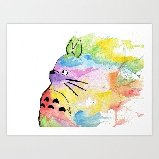 My Rainbow Totoro Art Print