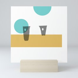 Two For Tea on a Vintage Summer Day Mini Art Print