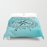 nautical Duvet Covers featuring Nautical  by gypsykissphotography