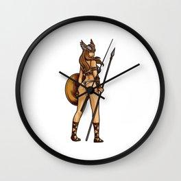 Sexy Valkyrie | Viking Norse Mythology Warrior Wall Clock