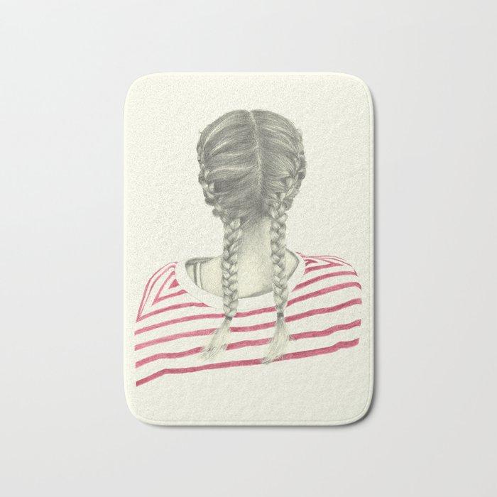 French braids 02 Bath Mat