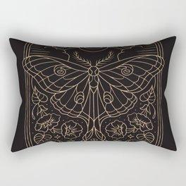 Moon Moth Rectangular Pillow