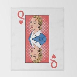Queen Pop Art Throw Blanket
