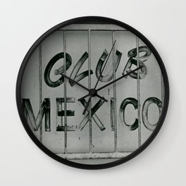 Club Mexico Wall Clock