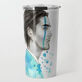 Man Bun Tears Travel Mug