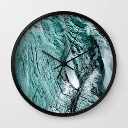 Turquoise Glacial Texture Wall Clock