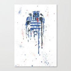 R2-D2 Splatter Canvas Print