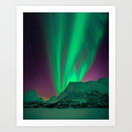Northern Light Aurora Borealis in Norway Art Print