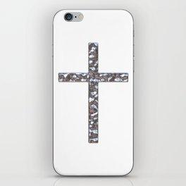 Chrome Crucifix Solid iPhone Skin
