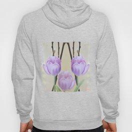 Artistic Pastel Spring Tulips Hoody