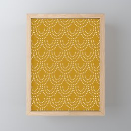 Dotted Scallop in Gold Framed Mini Art Print