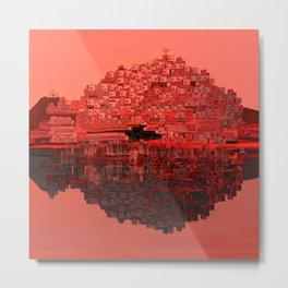 Living The Living Coral Metal Print