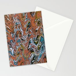 Marble Abstract In Red Stationery Cards