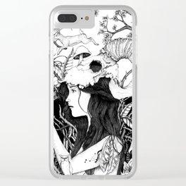 Nature goddess original Clear iPhone Case
