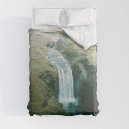 Skogafoss Waterfall, Iceland Travel Artwork Comforters