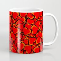 hearts Mugs featuring Heart by 10813 Apparel