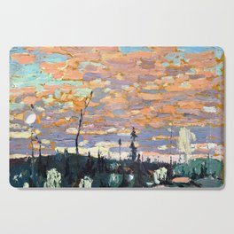 Tom Thomson - Wild Cherries, Spring - Canada, Canadian Oil Painting - Group of Seven Cutting Board