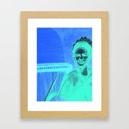 The vocalist Framed Art Print