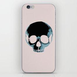 Blue punk skull iPhone Skin