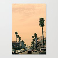 los angeles Canvas Prints featuring Los Angeles  by Andre Elliott
