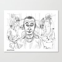 dentist Canvas Prints featuring At the Dentist by Jonas Ericson