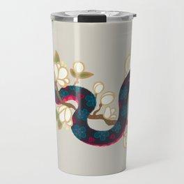 Snake and flowers 2 Travel Mug
