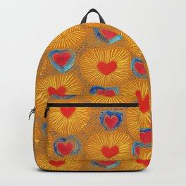 Heart_Coeur orange pattern Backpack