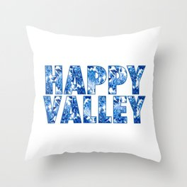 Floral Happy Valley Throw Pillow
