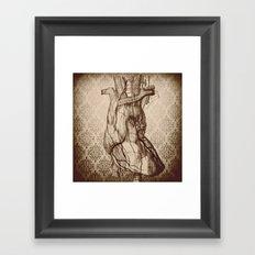 My Wooden Heart Framed Art Print