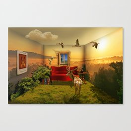 Living In The Forest Canvas Print