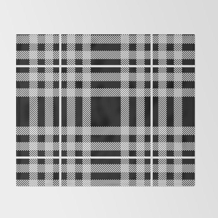 Black And White Plaid Blanket.Black And White Plaid Throw Blanket