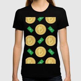Turkish Lira pattern background. T-shirt