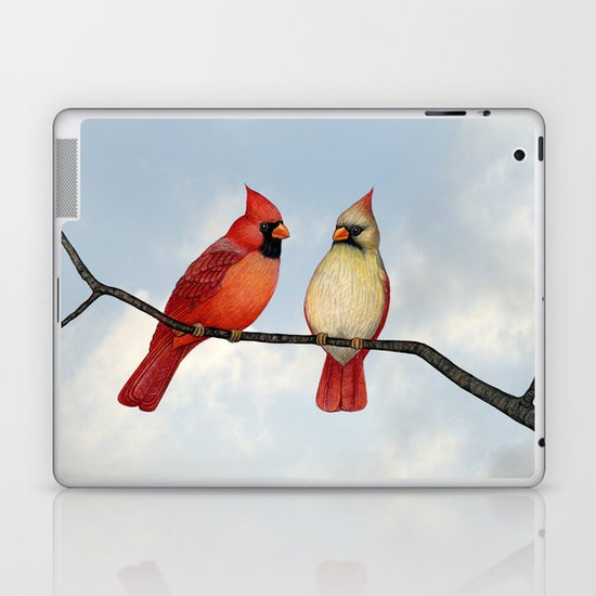 cardinal couple Laptop & iPad Skin