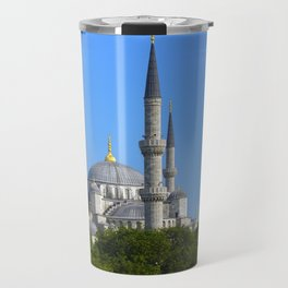Blue Mosque, view from Sultanahmet, Istanbul, Turkey Travel Mug