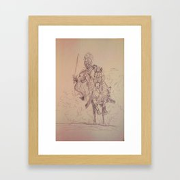 Knight through the Dust Framed Art Print