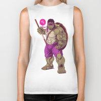 ninja turtle Biker Tanks featuring Hulk Ninja Turtle by Mike Wrobel