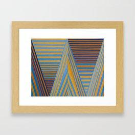 Vibrating Edges Framed Art Print
