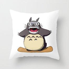 TotoroBoard Throw Pillow