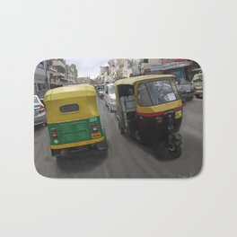 Rickshaws in Bangalore Bath Mat