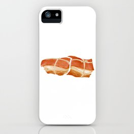 Watercolor Illustration of Chinese Snack - Smoked Meat | 柴沟堡熏肉 iPhone Case