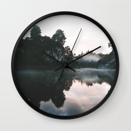 Waikato River II Wall Clock
