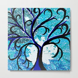 TREE ABSTRACT SILHOUETTE Metal Print