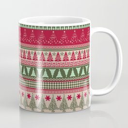 Pine Tree Ugly Sweater Coffee Mug