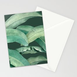 banana leaves dark green Stationery Cards