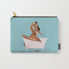Pterosaurs in Bathtub Blue Carry-All Pouch