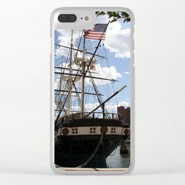 Old Glory - USS Constellation Clear iPhone Case