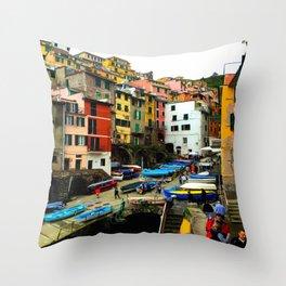 Cinque Terre - Riomaggiore Throw Pillow